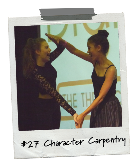 Drama Menu activity Character Carpentry